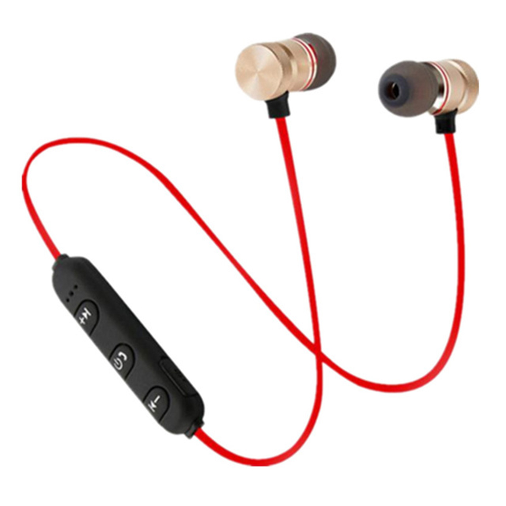 001 Wireless Bluetooth Headset High Speed Transmission Portable Earphones red