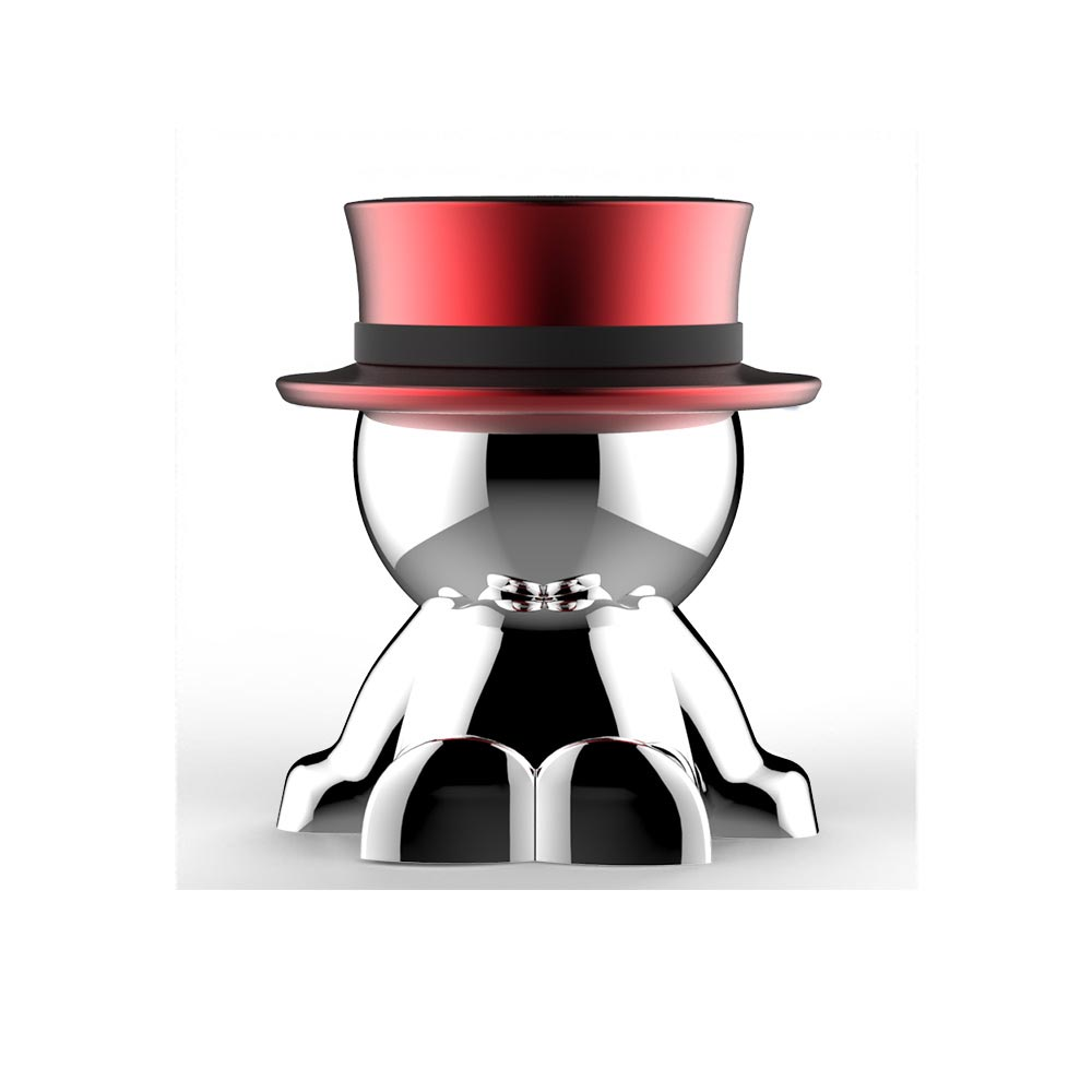 Mad Hat Funny Mobile Phone Stand Suction Cup Magnet Car Decoration Cell Phone Holder red-B