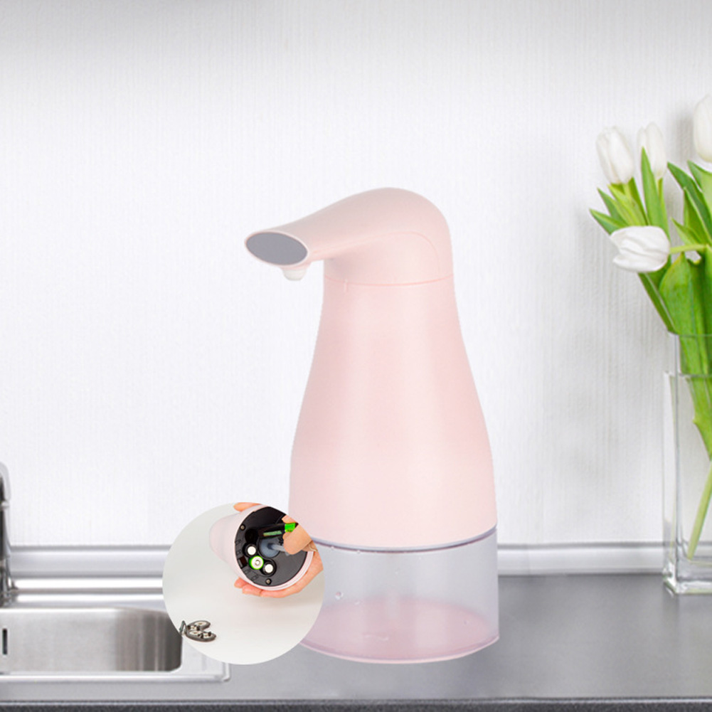 Automatic Foam Soap Dispenser Touchless Hand Infrared Auto Sensor Soap Pump for Kitchen Children Pink