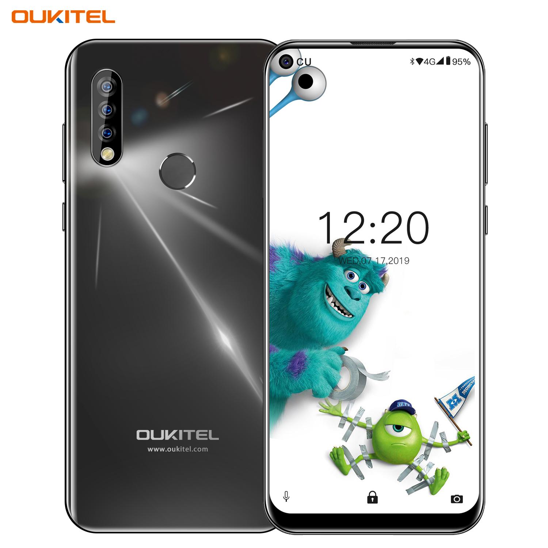 OUKITEL C17 Pro 6.35'' Android 9.0 19:9 MT6763 4GB 64GB Smartphone Face ID Octa Core 3900mAh Triple Camera 4G Mobile Phone black