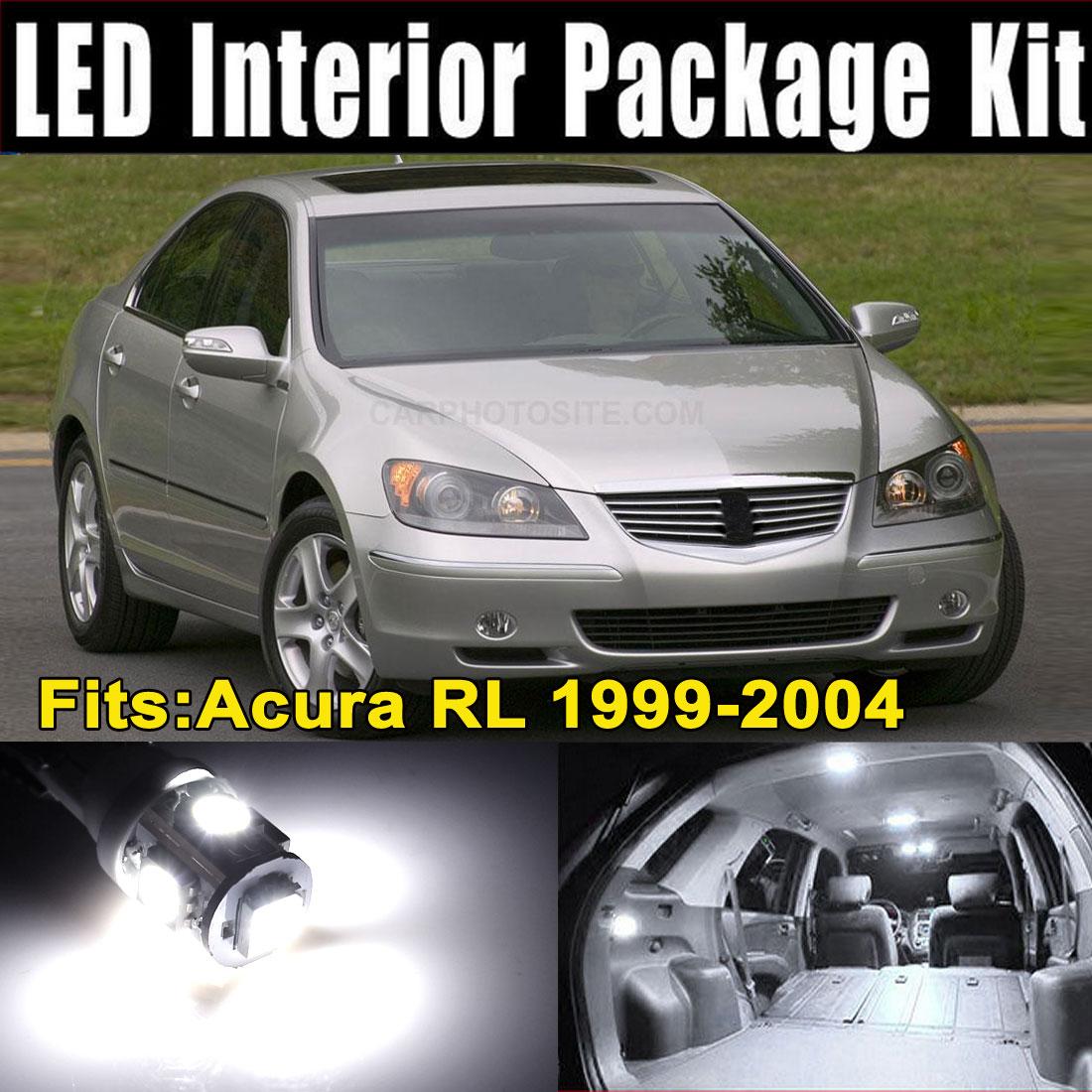 9Pcs White LED Lights (7xT10-5-5050 + 2x31MMx12-3528) Interior Package Kit for Acura RL