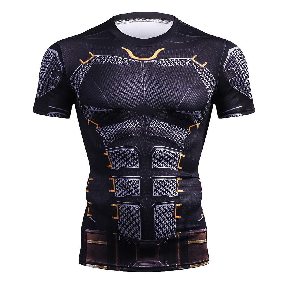3D Printed Men Fitness Sports Tops Quick Dry Clothes Short Sleeve Cycling Yoga Running Garment 2#_S