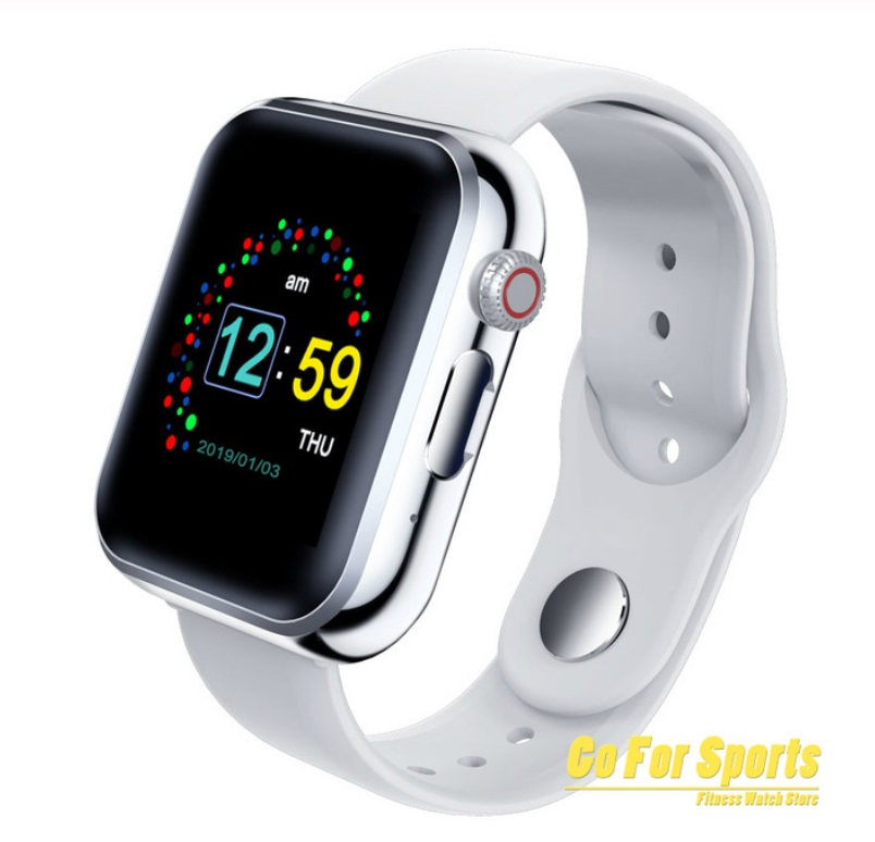 Bluetooth Smart Phone Watch SIM Card Camera Music Player Pedometer Fitness Watch for IOS Android  Silver grey