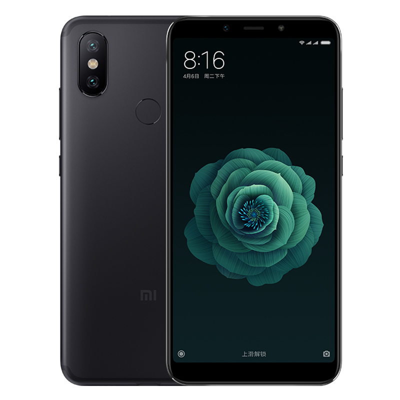 Xiaomi 6X SmartPhone - 128GB ROM, 5.99 Inch Screen, Dual Camera, Fingerprint, Bluetooth 5.0 (Black)