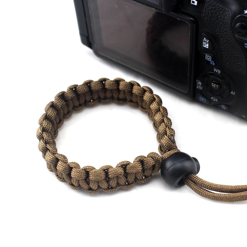 Fashion Braided Digital Camera Strap Camera Wrist Strap Hand Grip Wristband for Nikon Canon Sony Pentax Panasonic  brown