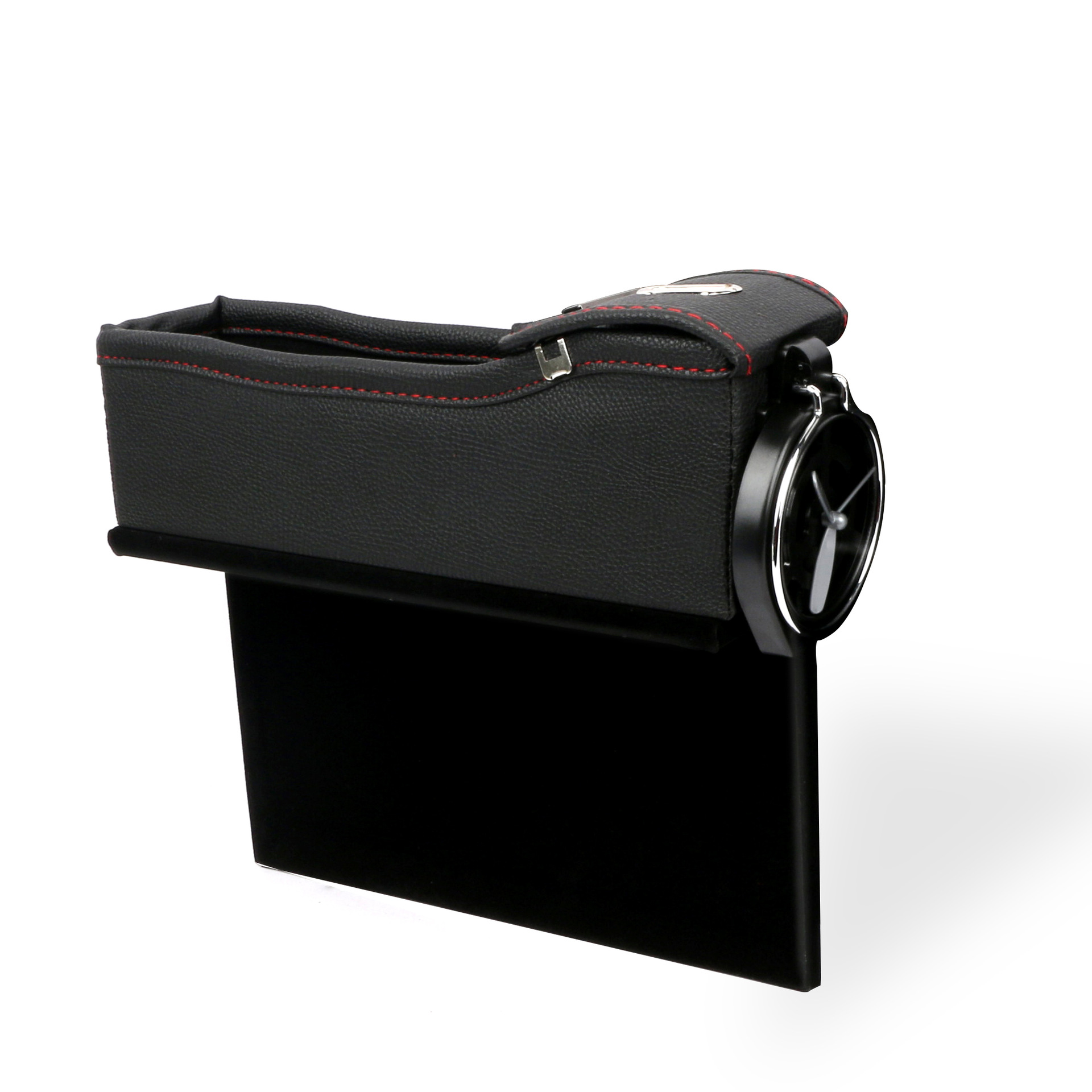 Car Seat Storage Box Cup Drink Holder Organizer Auto Gap Pocket Stowing Tidying for Phone Pad Card Coin  Black red line Deputy driving