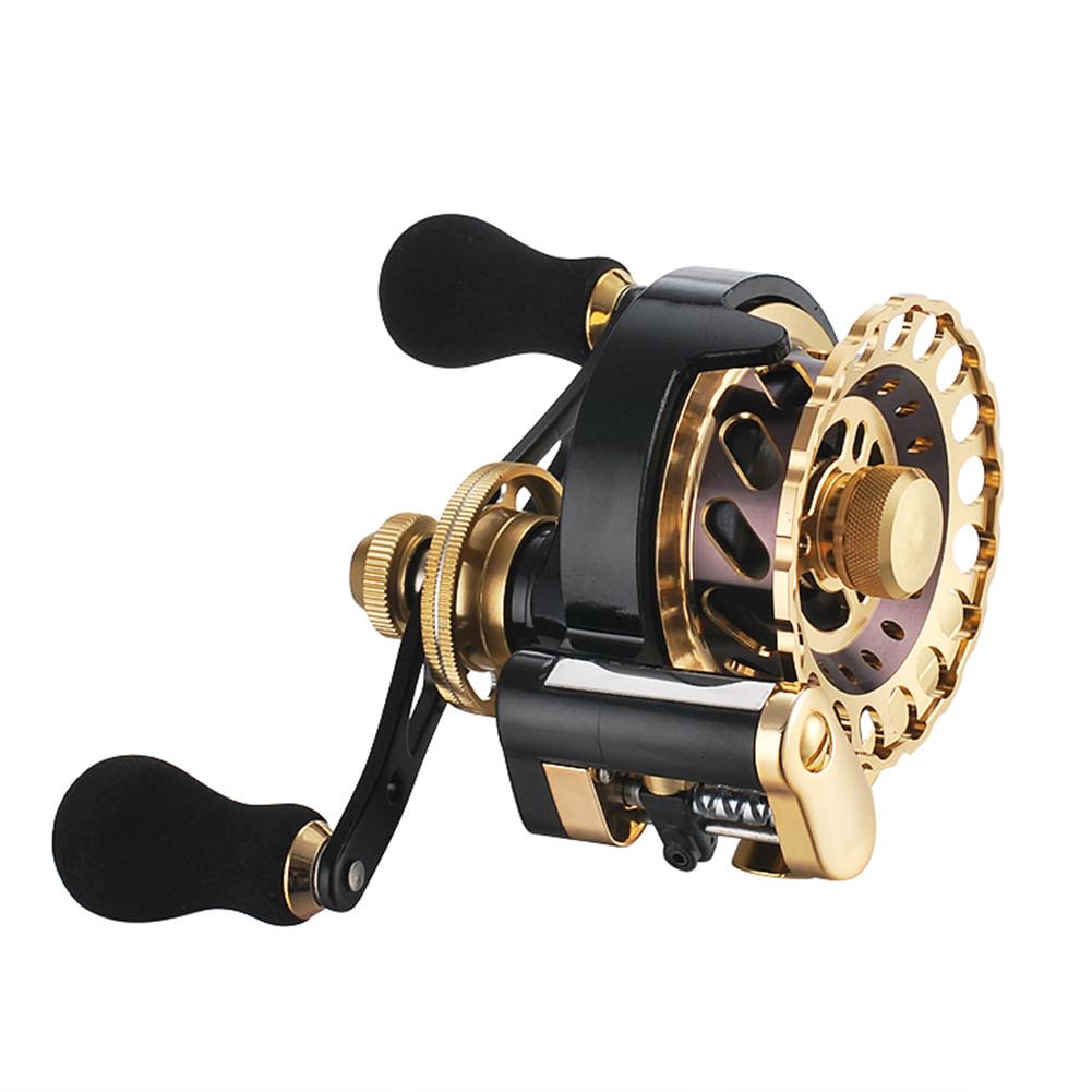 Fishing Reel 11-axis Cnc All-metal Head Smooth Micro Lead Fishing Reel Fishing Accessories b65 golden left hand