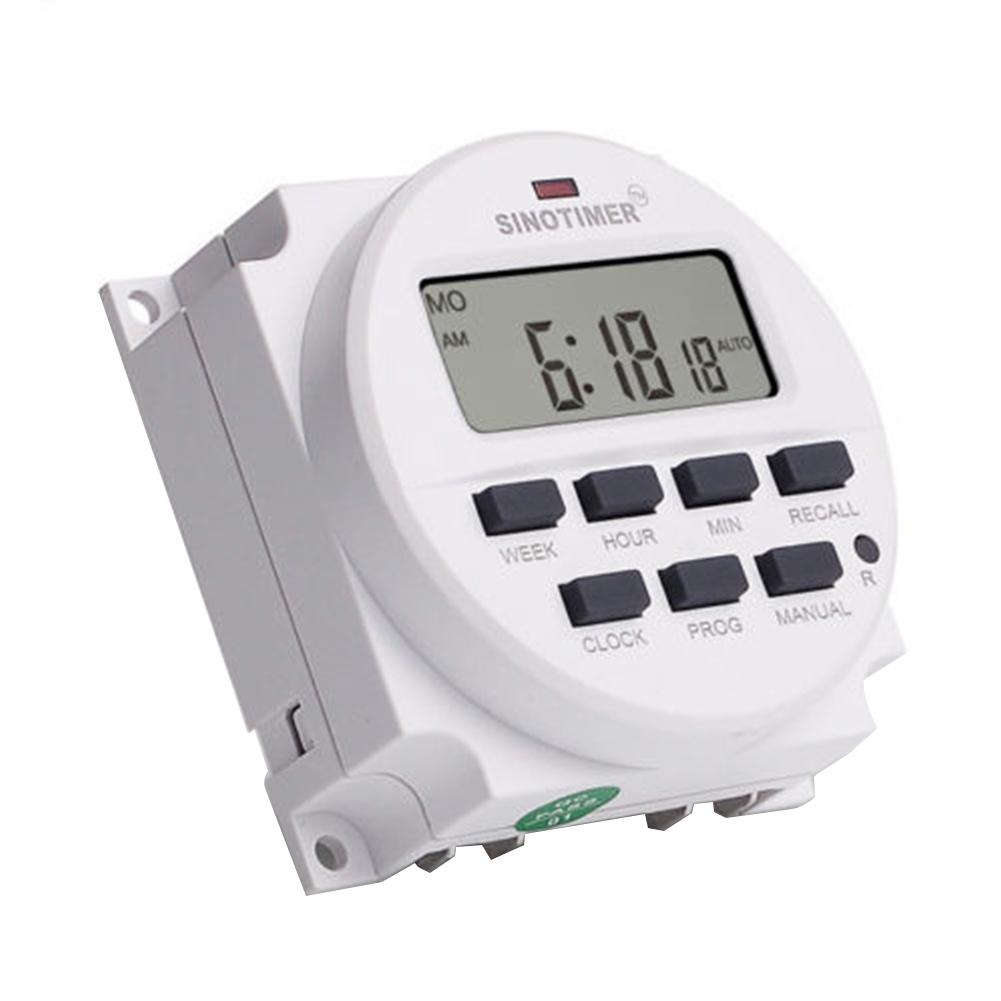 12V/24V/110V/220V AC/DC Digital Intelligent Power Timer Switch Programmable Relay Control Timer