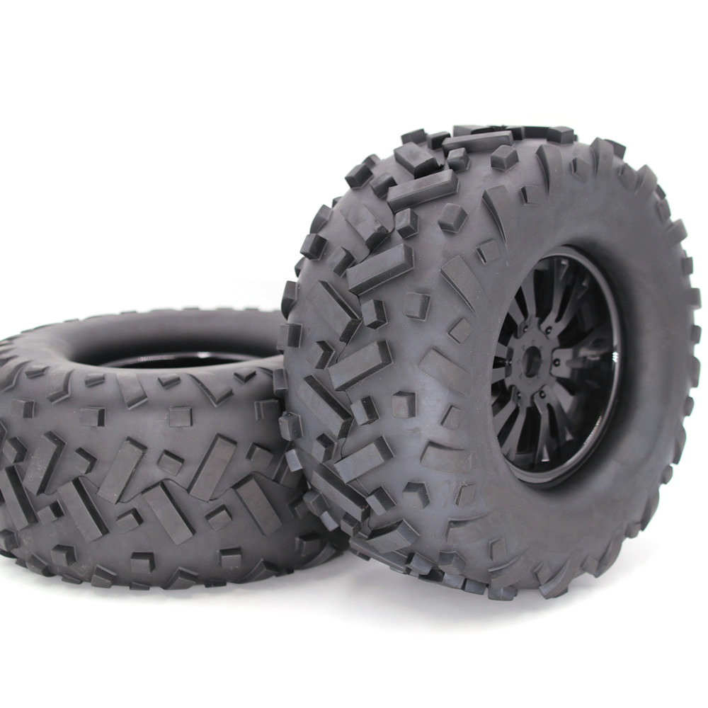 1/8 Tire Universal RC Car Wheel and Tire Off-road Car Tire Car Parts 170MM 170MM (1 pair)