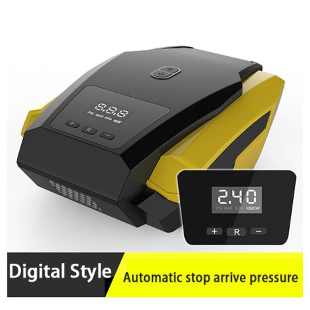 Car Inflatable Pump LED Digital Display Portable 12V Automobile Tire Fast Inflator