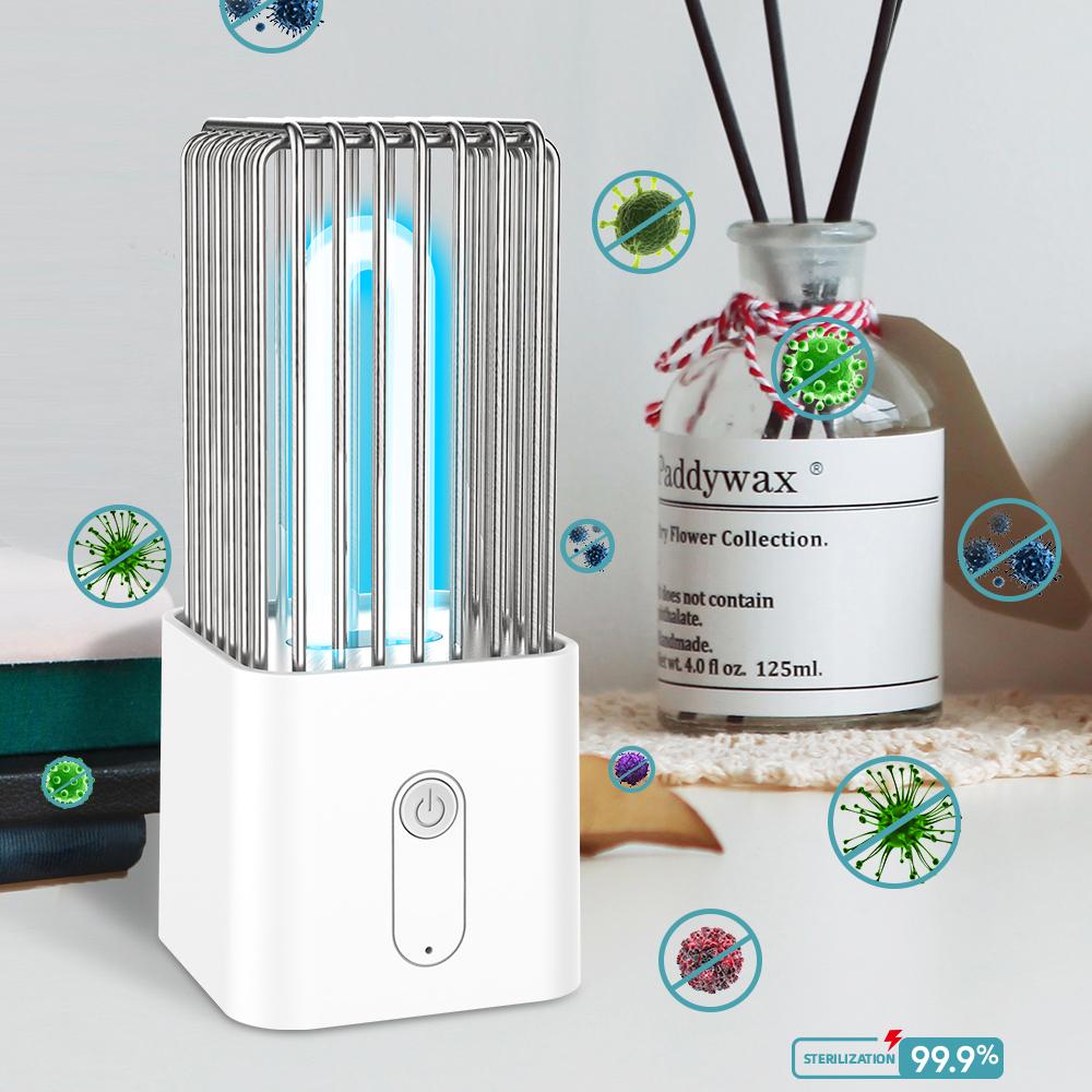 Uv Sterilization Lamp Disinfection Desk Ultraviolet Lamp white