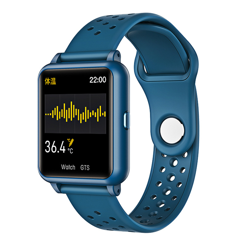 Smart Watch Temperature Measure Heart Rate Blood Pressure Monitor Bluetooth Sports Bracelet green