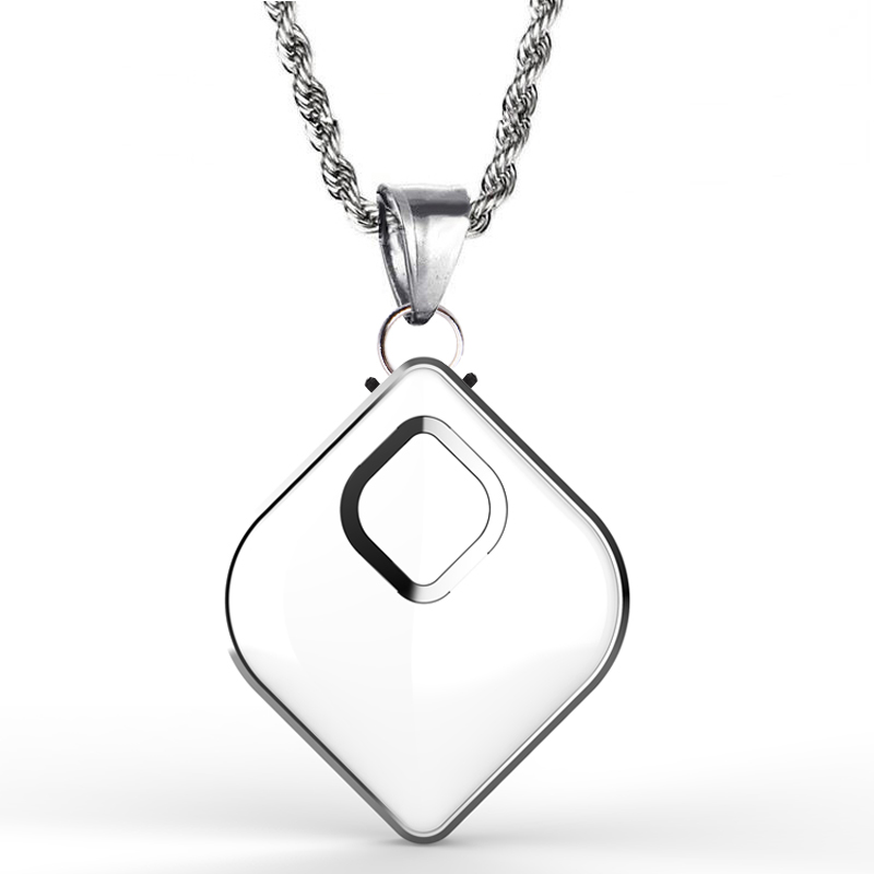 Air Purifier Necklace Wearable Mini Portable USB Air Cleaner Negative Ion PM2.5 Air Freshener white