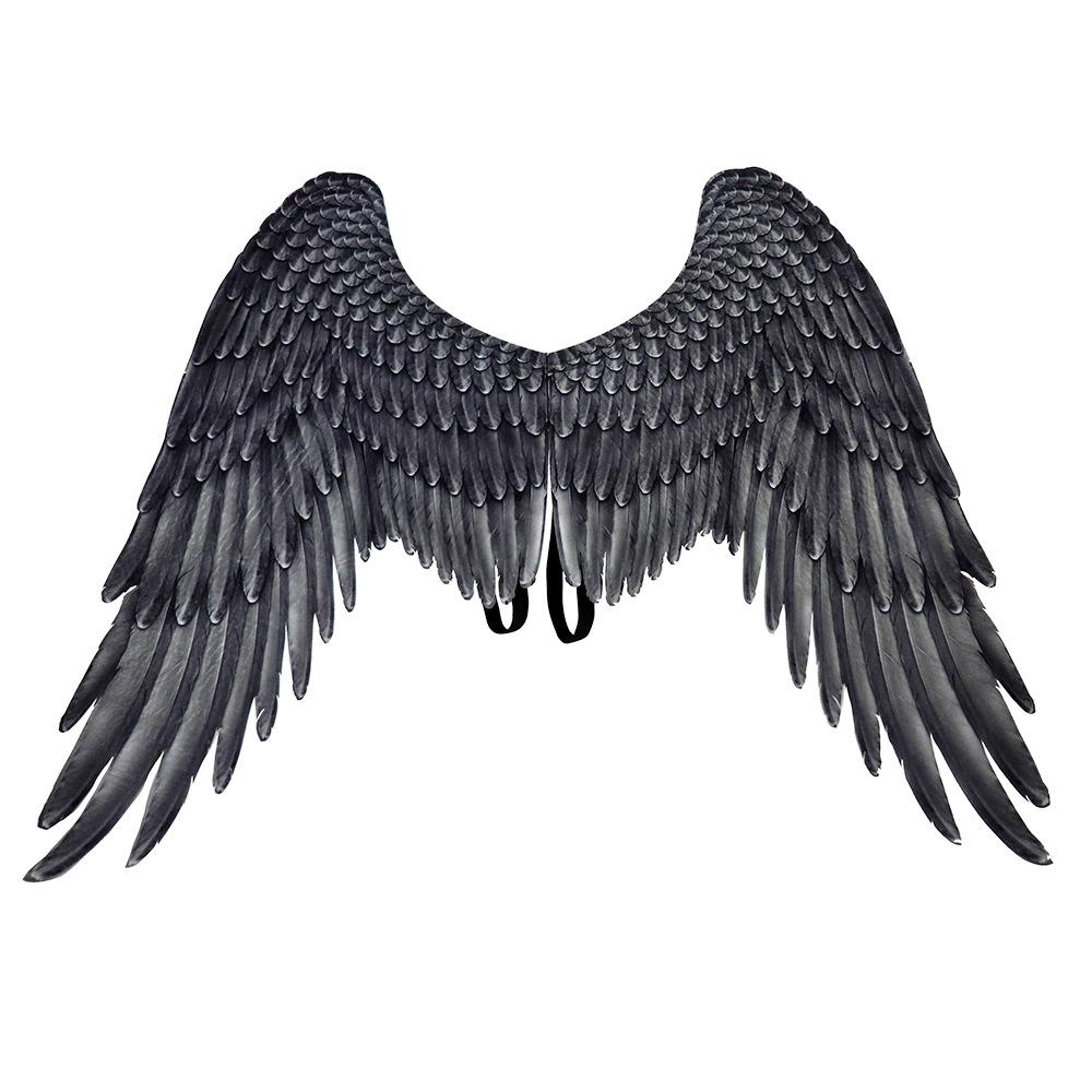 Halloween Carnival Oversized Black White Angel WIngs for Women Men Unisex Wings Black adult angel wings