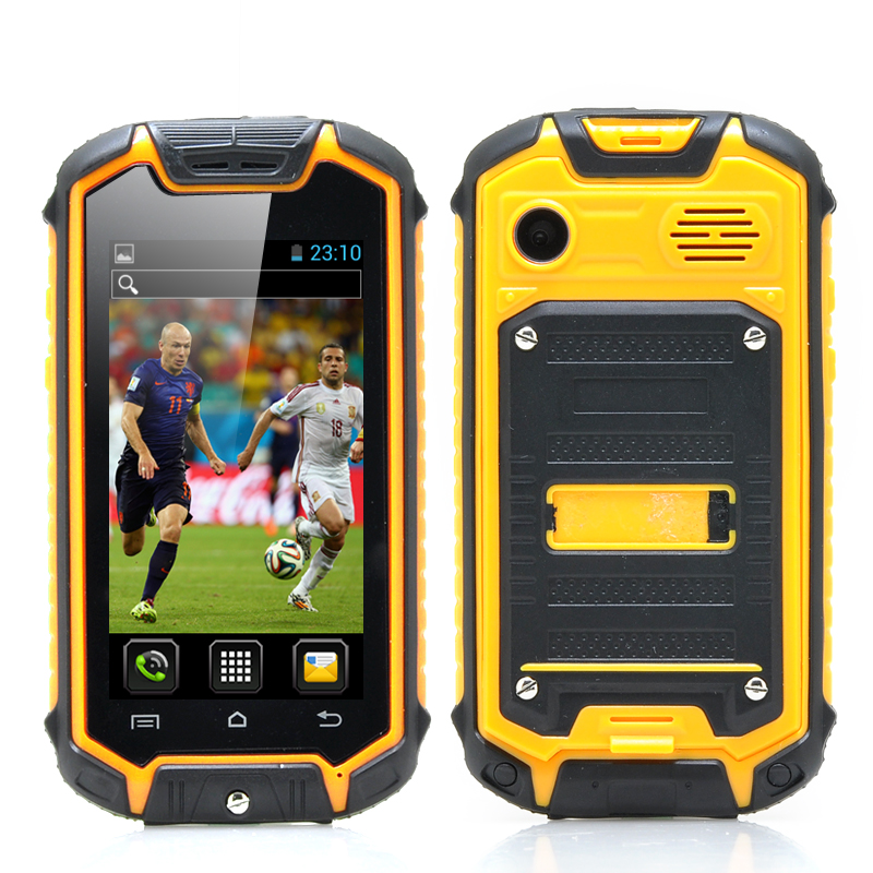 Mini Nano Rugged Mobile Phone (Yellow)