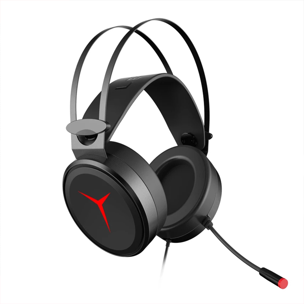 Lenovo Savior Y360 Gaming Headset Computer Headset Wired Desktop Earphones With Microphone Black