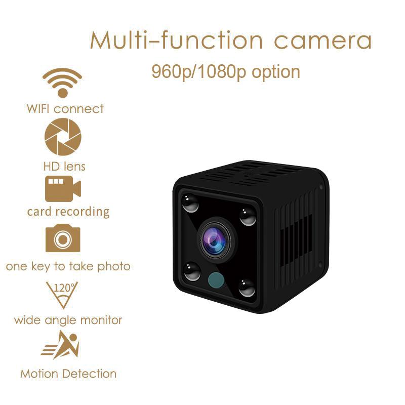 Small Mini Wifi Camera IP Wireless 1080P HD P2P Video CCTV Nanny Body Cam Home Security World Vision Monitor black