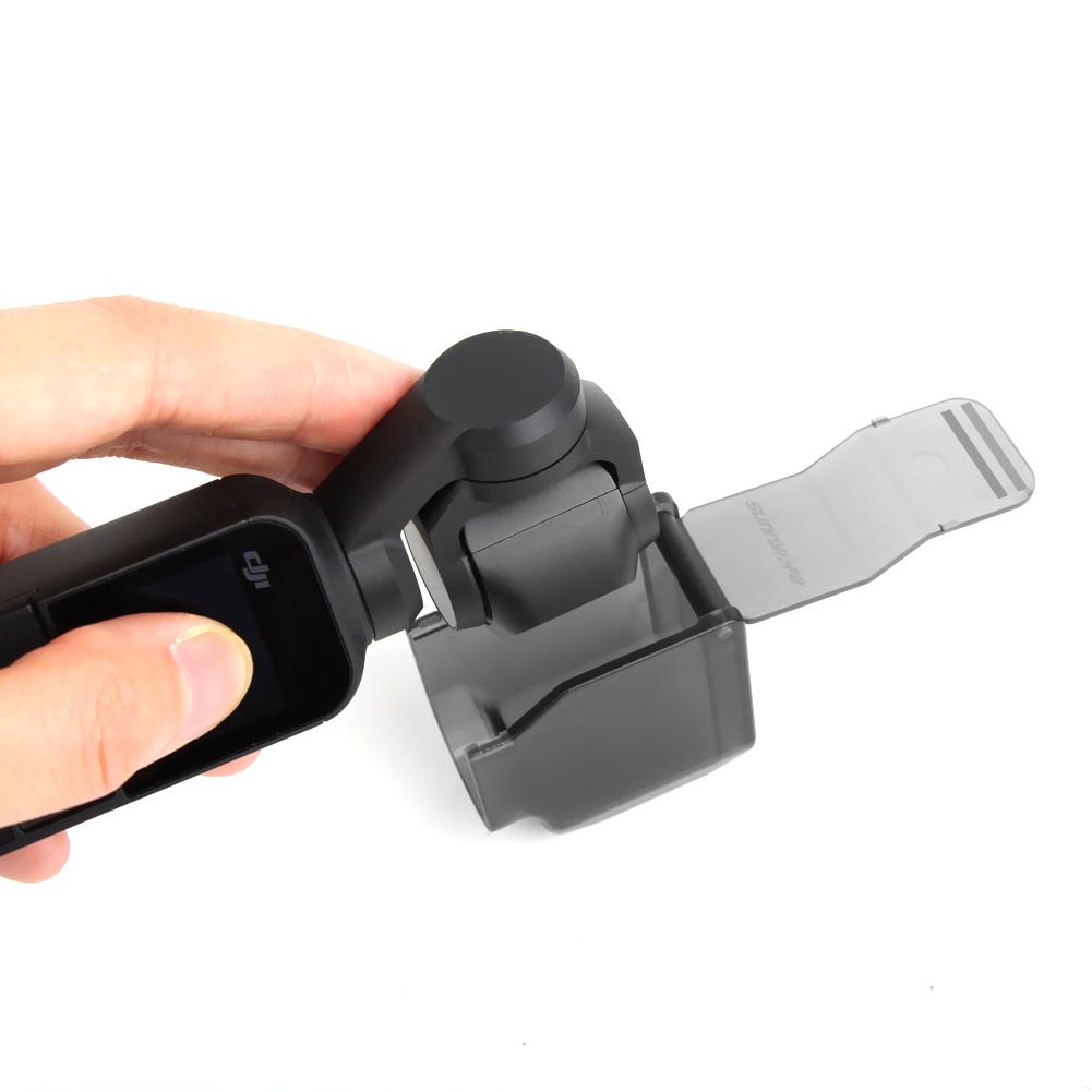 Sunnylife Camera Lens Case Cover Hood Caps Gimbal Protector Guard for DJI OSMO Pocket black