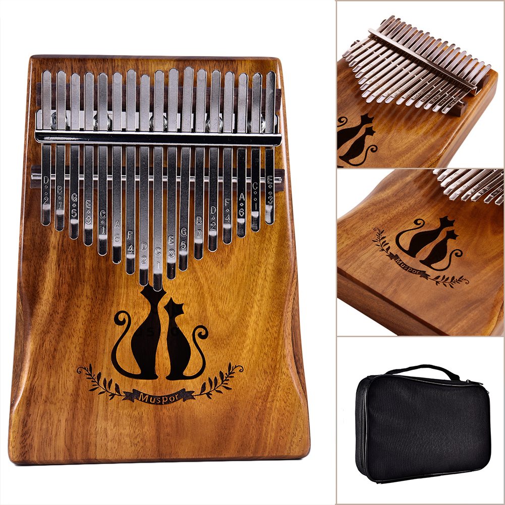 17 Keys Thumb Piano Finger Couple Cat