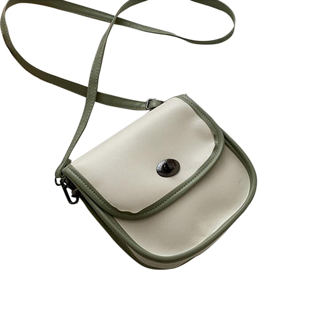 Women's PU Leather Fashion Wild Shoulder Bag Small Fresh Girl Color Matching Cross body Bag green