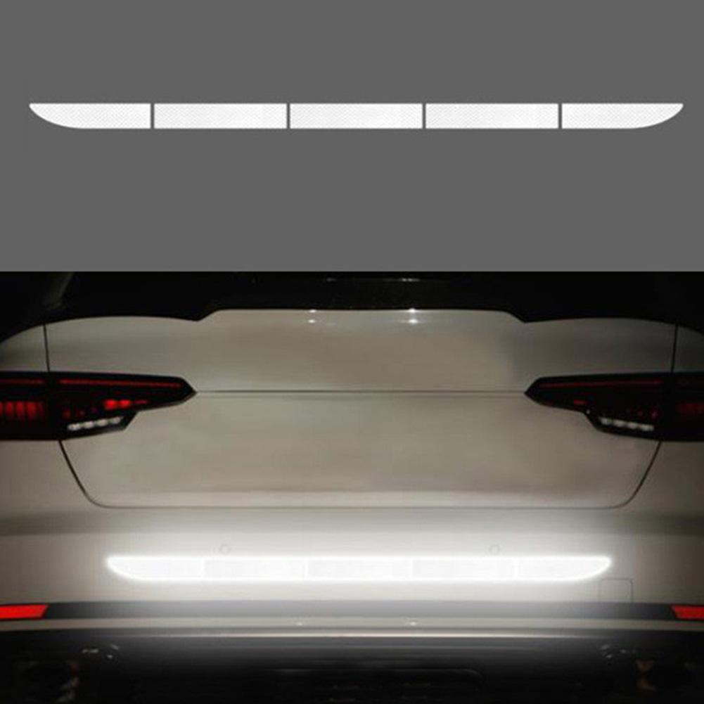 Car Reflective Sticker Warning Strip Tape Protective Car Sticker Warn on Car Body Trunk Exterior white