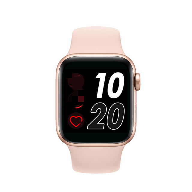 T500 Silicone Smart Watch Music Player Sleep Monitor Blood Pressure Bluetooth Call Watch Pink