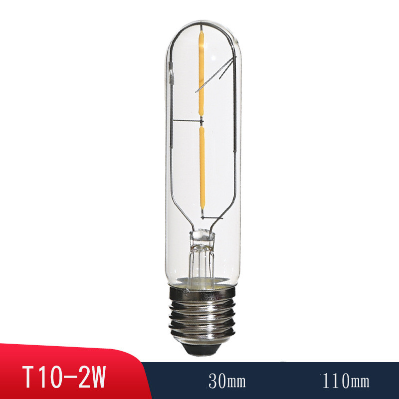 T10  E27 2700K LED Tube Bulb Light Retro Lamp Bulb for Wall Lamp Ceilling Lamp Decor