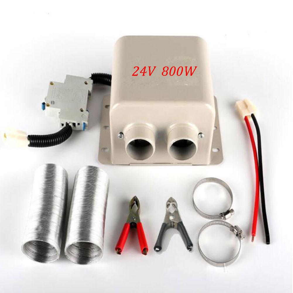12V/24V 600W/800W Car Heater Portable Temperature Heating Defroster Fogging 2 Holes Autonomous Heater  2 holes 24v