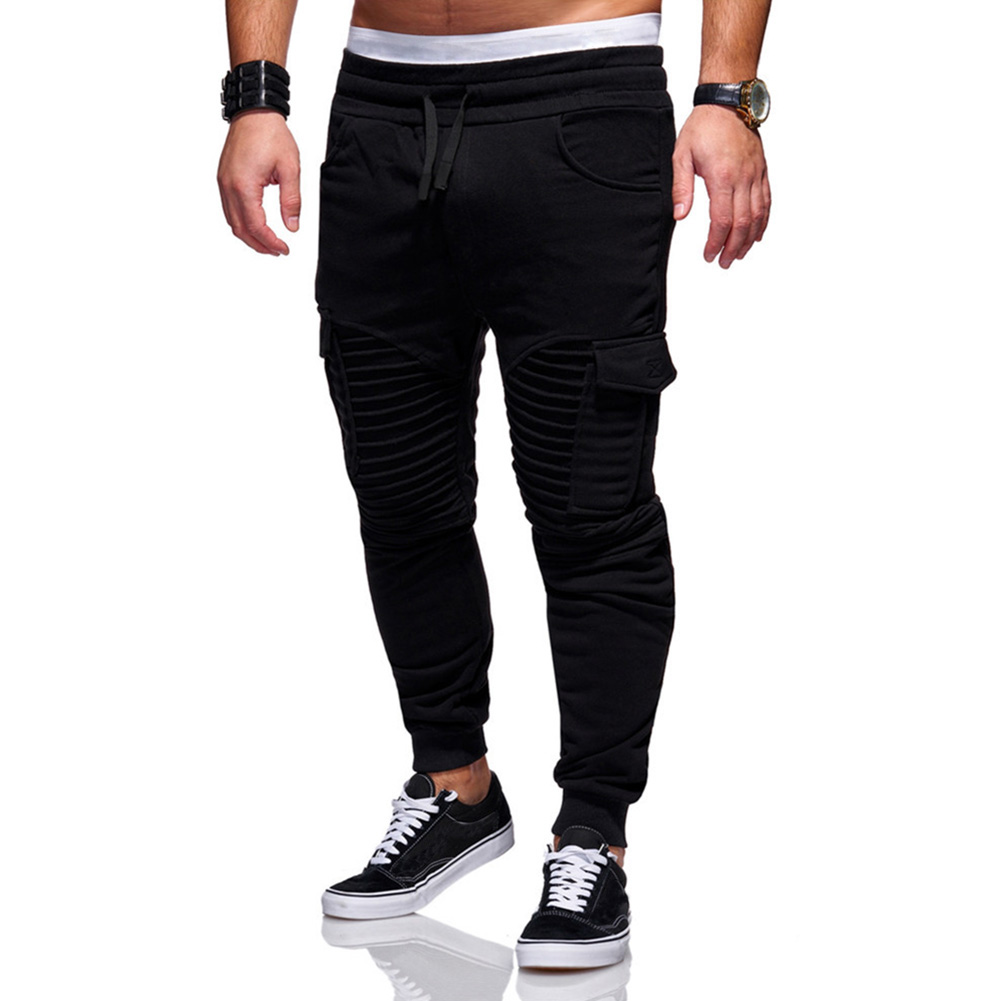 Men Twill Jogger Pants Casual Trousers