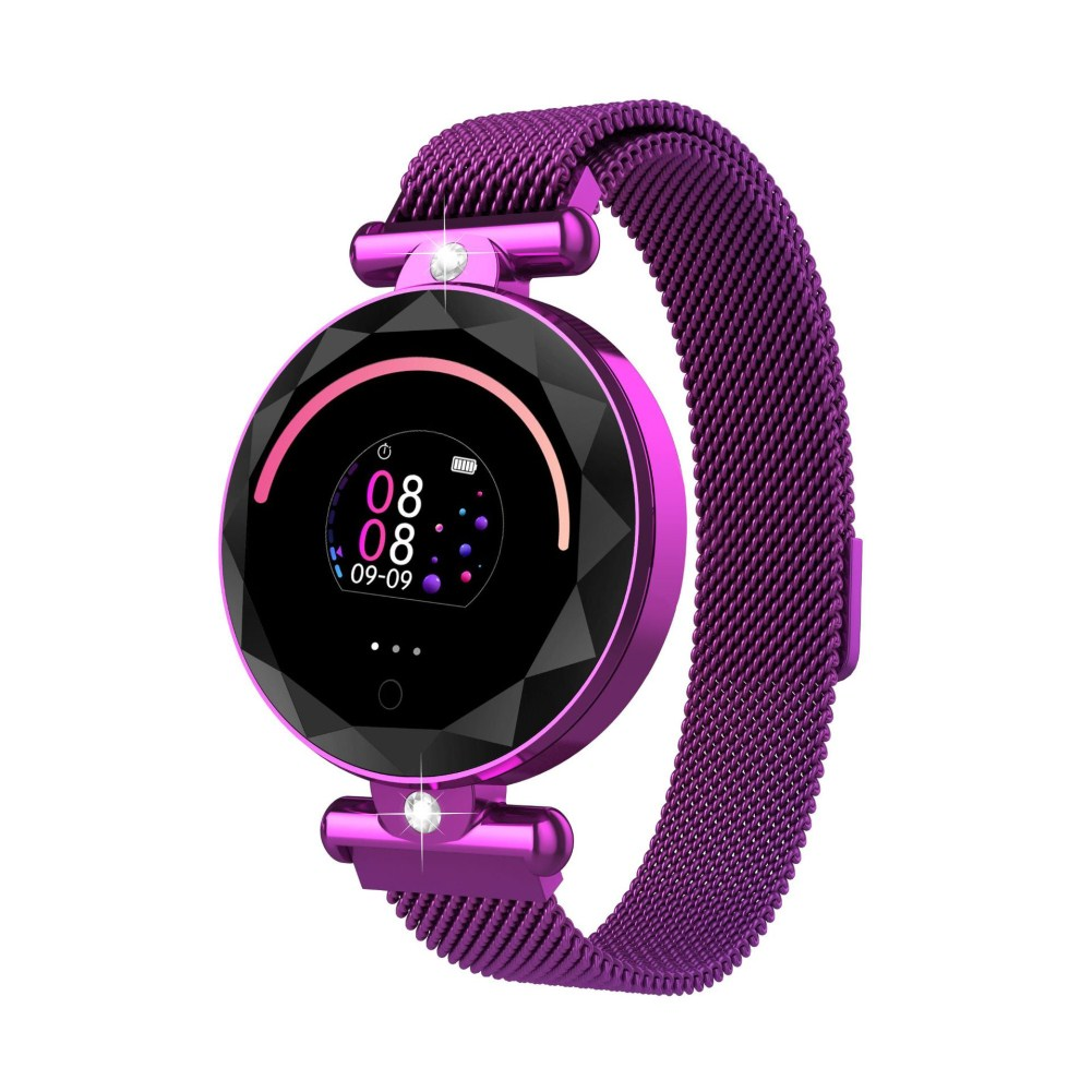 S886 Smart Watch Round Color Screen Women Heart Rate Blood Pressure Motion Monitoring Smart Bracelet purple