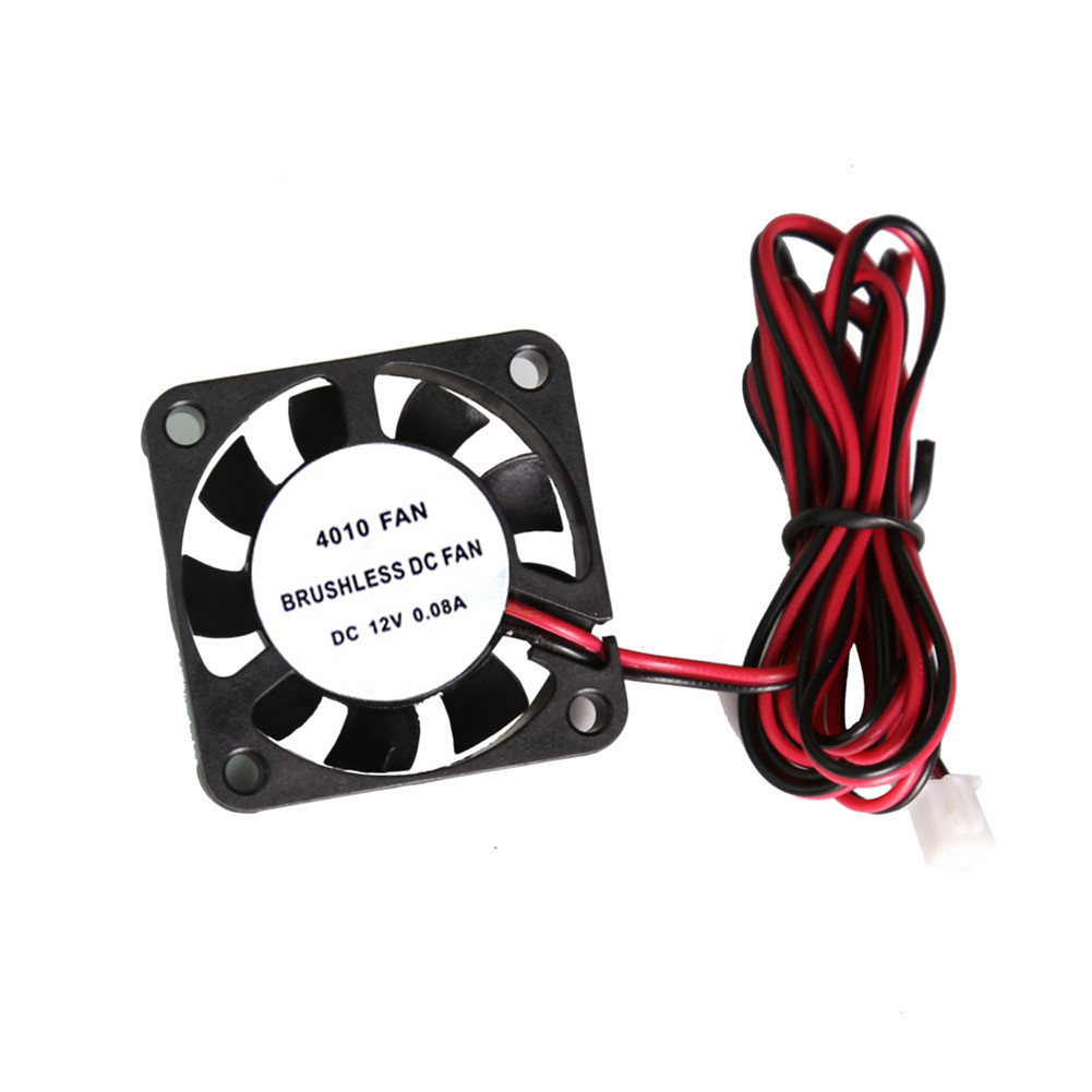 For Computer Small Exhaust Fan DC12V / 24V Mini CPU Cooling Fan 40x40x10mm for 3D Printer Ender 3 CR10