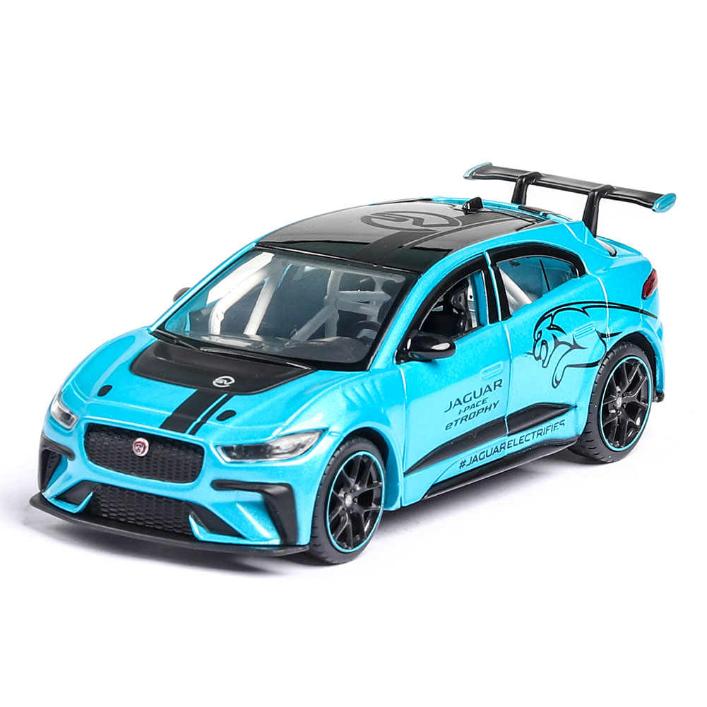 1/36 Children Simulated Pure Electric I PACE Toy Alloy Roadcar Car Model for Accessories Arrangement blue