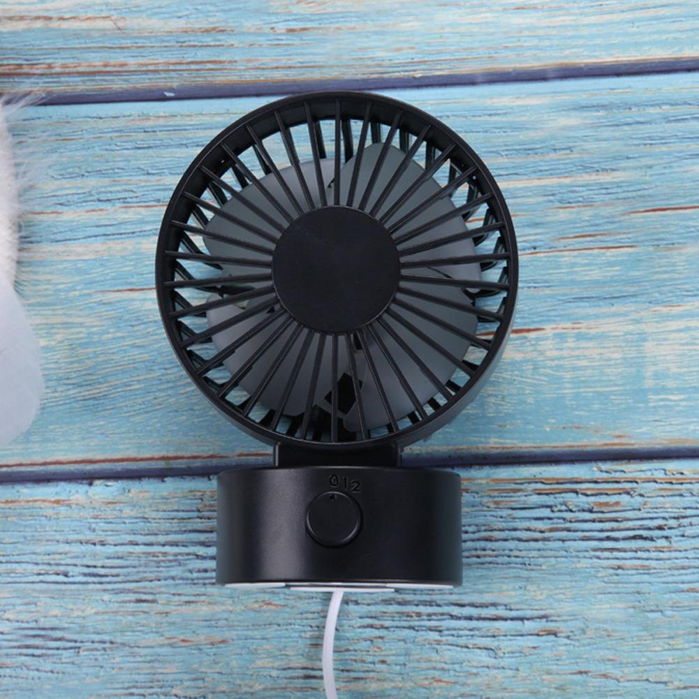 Portable Mini USB Charging Fan Desktop Office Shaking Electric Fan Decoration black_102*79*138mm
