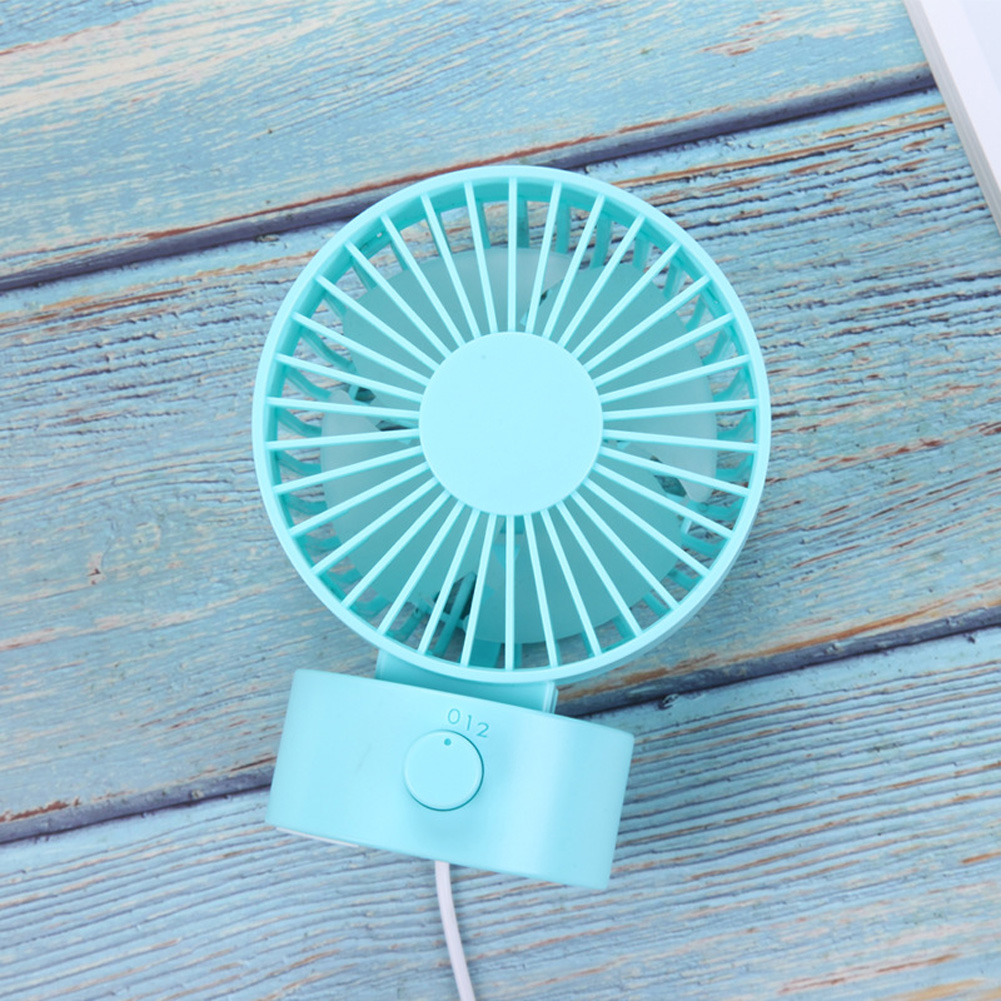 Portable Mini USB Charging Fan Desktop Office Shaking Electric Fan Decoration blue_102*79*138mm