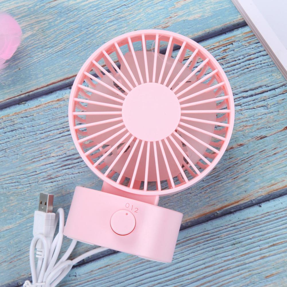 Portable Mini USB Charging Fan Desktop Office Shaking Electric Fan Decoration Pink_102*79*138mm