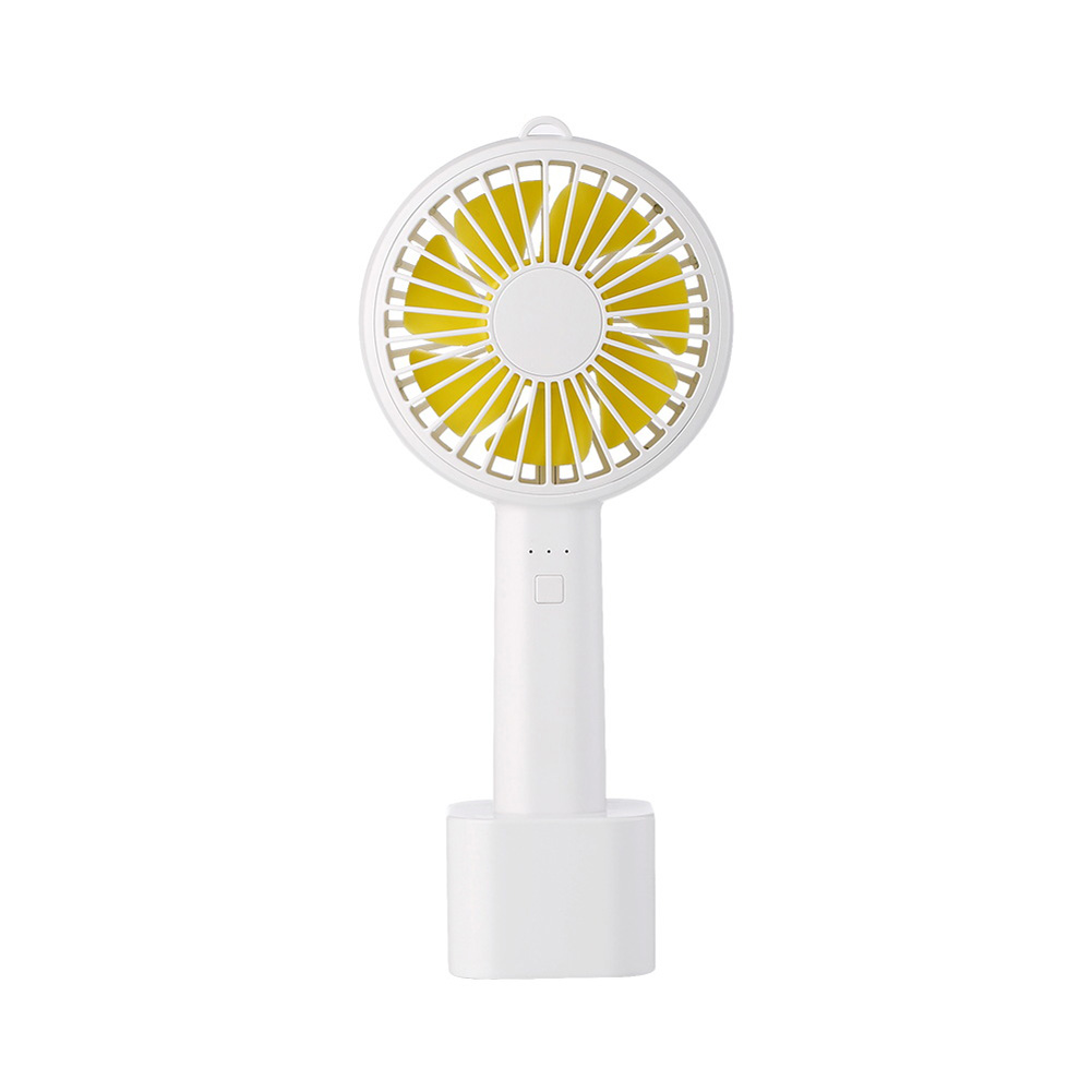 Usb Mini Mute Fans Electric Portable Handheld Household Desktop Electric Fan for Student Office white