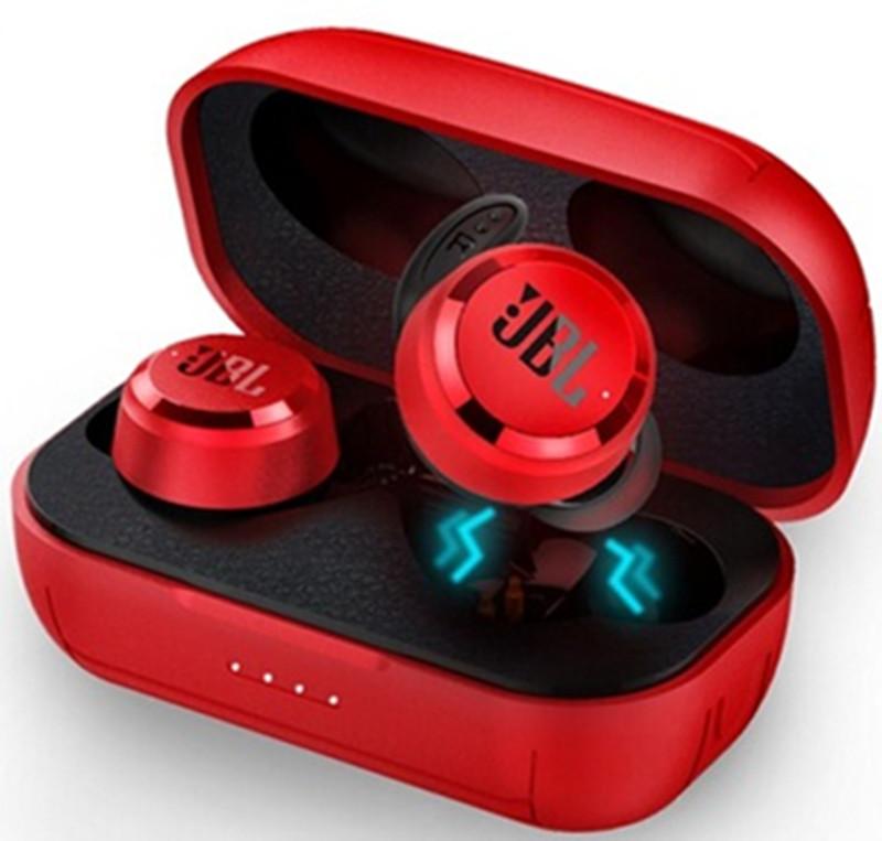 JBL T280 TWS Bluetooth Wireless Headphones with Charging Case Earbuds Sport Running Music Earphones  red
