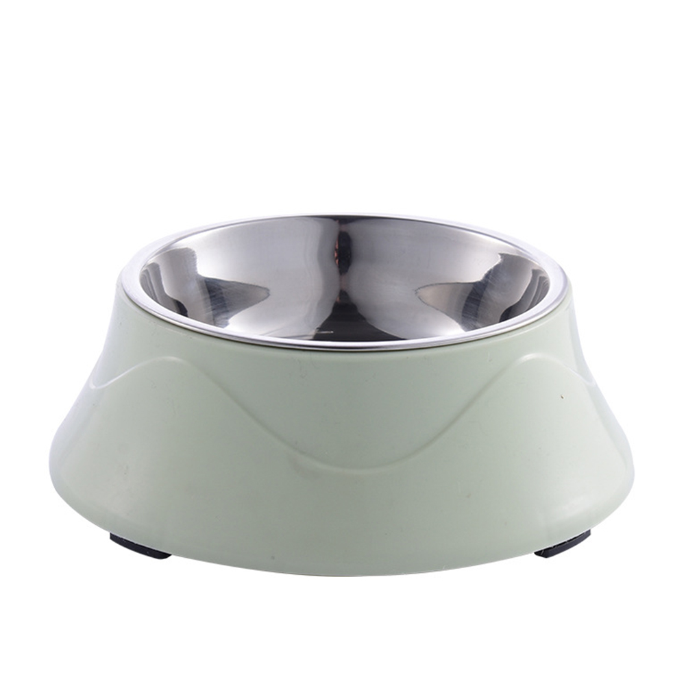 Large Dual Purpose Double Layer Nonslip Pet Bowl for Large Dogs Eating Drinking Green 19.2*7cm