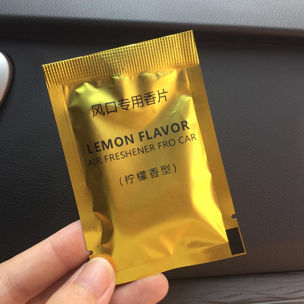 2pcs/set Car Perfume Sheet Outlet Supplementary Perfume Cotton lemon