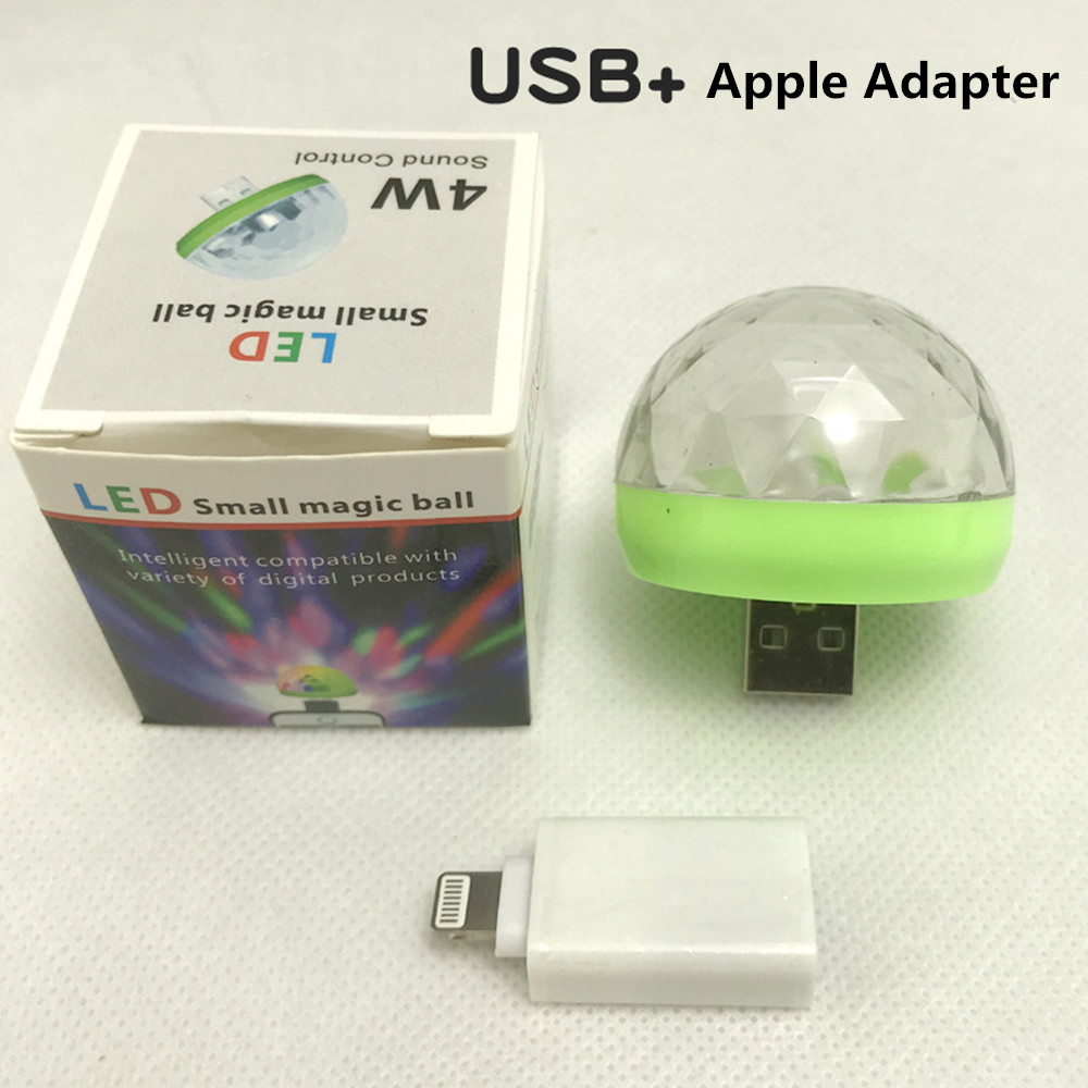 USB Rechargeable Voice Control Magic Ball Lamp with Adapter green