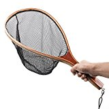 Fly Fishing Landing Soft PE Mesh Trout Catch and Release Net Black