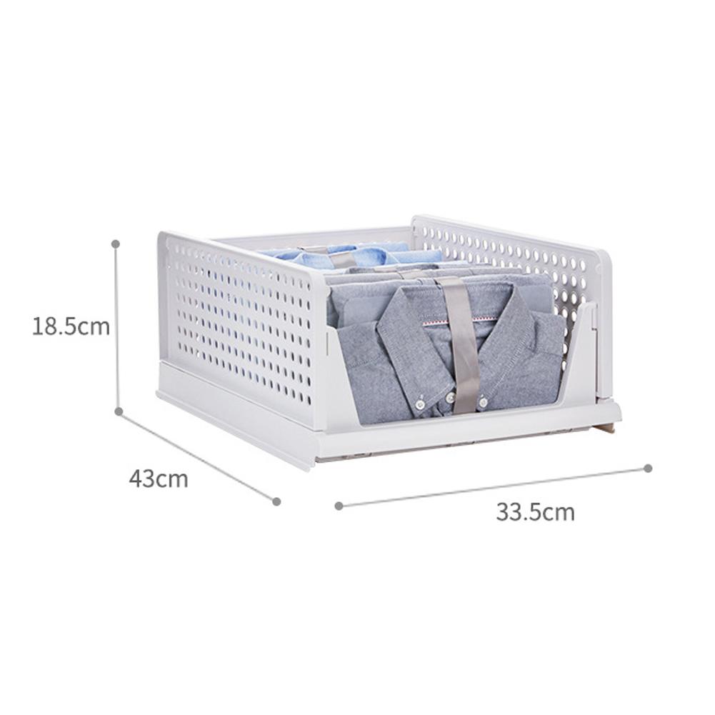 Thicken Drawer Storage Basket Wardrobe Foldable Stackable Bedroom Desktop Organizer Box  large