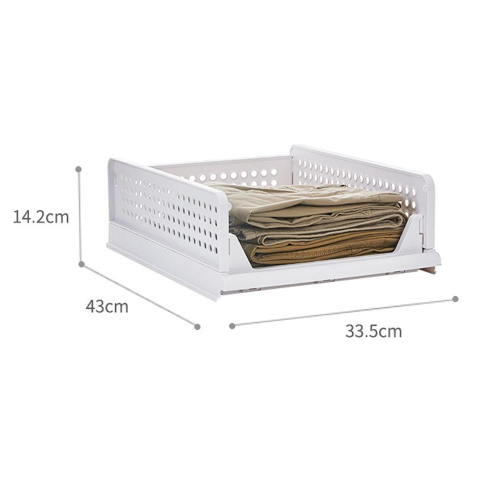 Thicken Drawer Storage Basket Wardrobe Foldable Stackable Bedroom Desktop Organizer Box  small