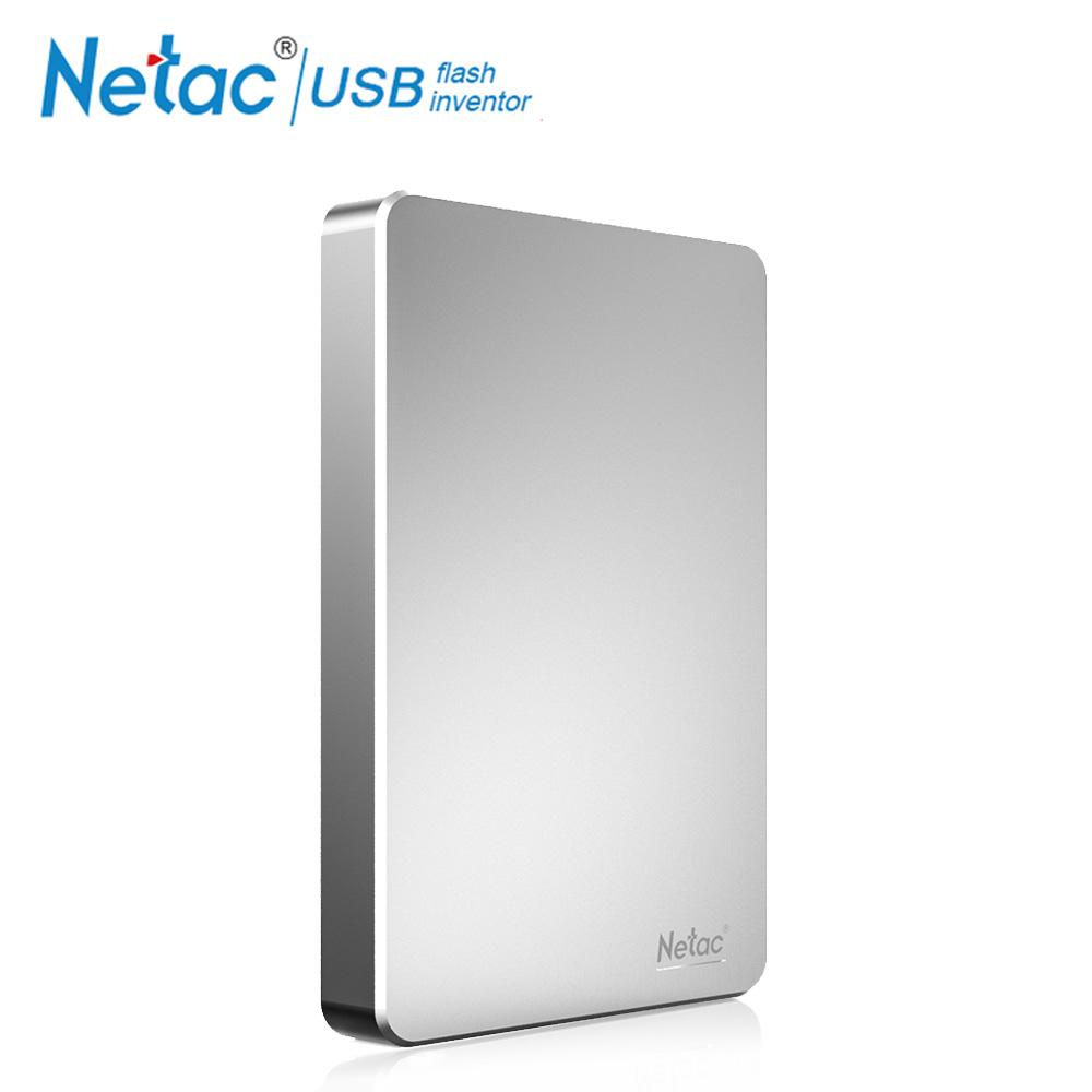 Netac K330 USB3.0 High Speed Encryption HDD Mobile Hard Disk Silver_1TB