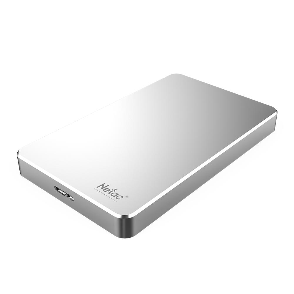 Netac K330 USB3.0 High Speed Encryption HDD Mobile Hard Disk Silver_2TB