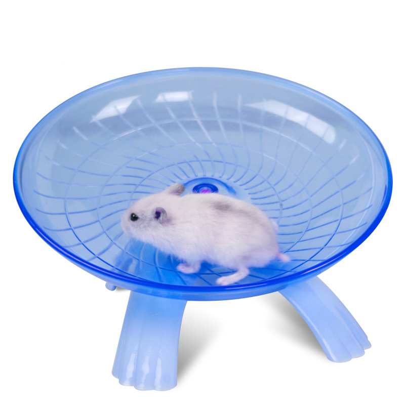 Flying Saucer Exercise Wheel for Small Pets, 18 cm/7.09 inch Hamsters Running Disc, Comfort Pet Toys Blue_18*18*11cm