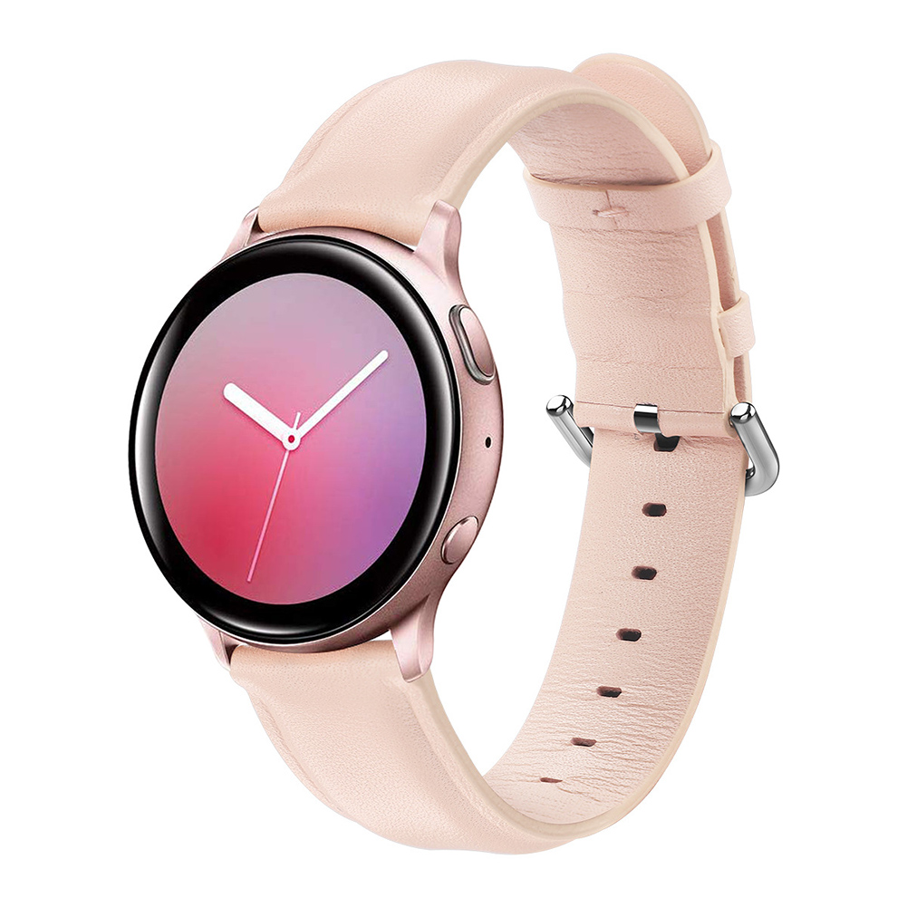 Leather Watch Strap for Sumsung Galaxy Watch Active/Active 2 Pink S code