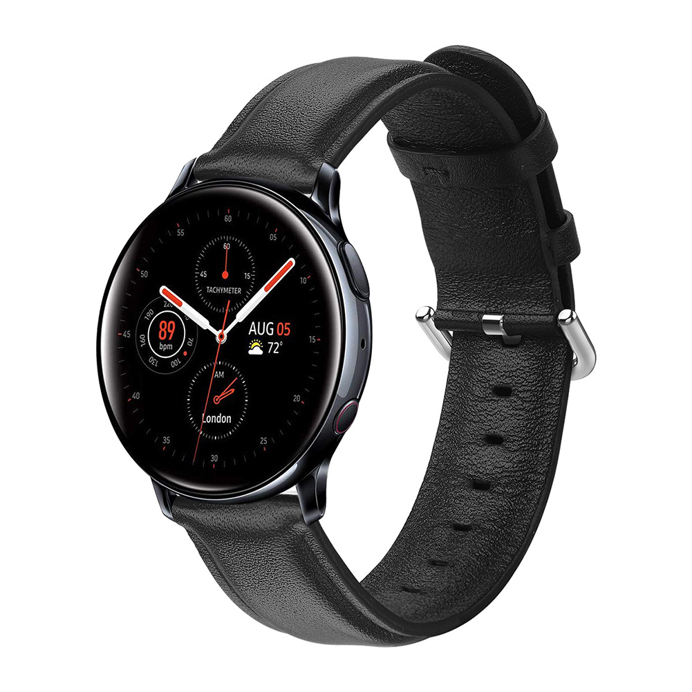 Leather Watch Strap for Sumsung Galaxy Watch Active/Active 2 Black S code