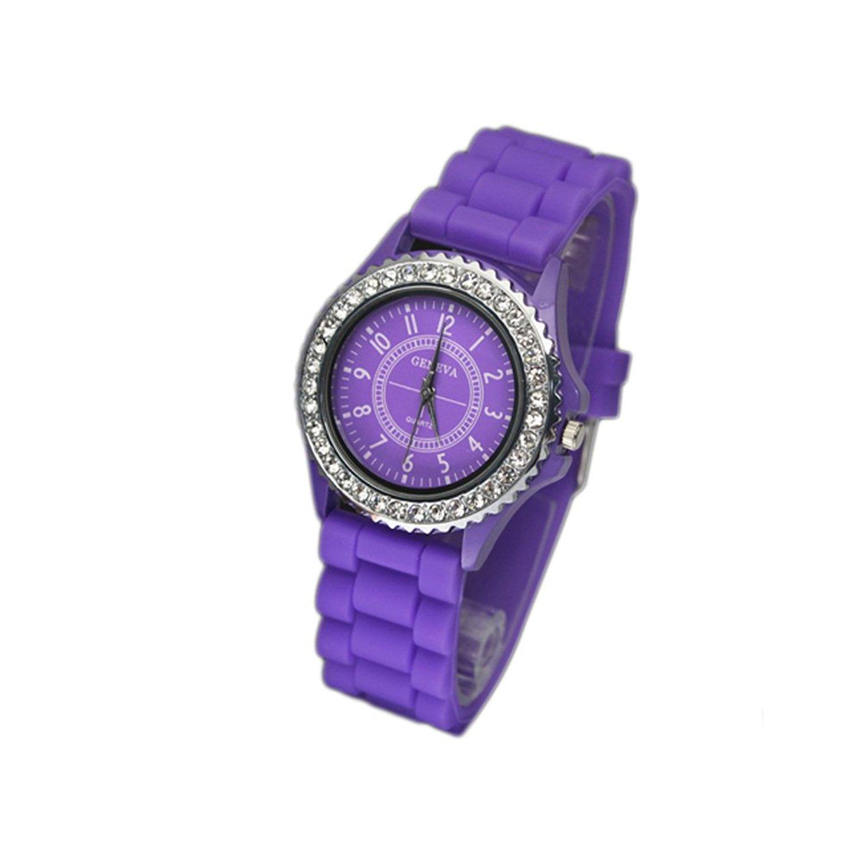 Fashion Vivid Color Quartz Watch Silicone Watch  Mix color