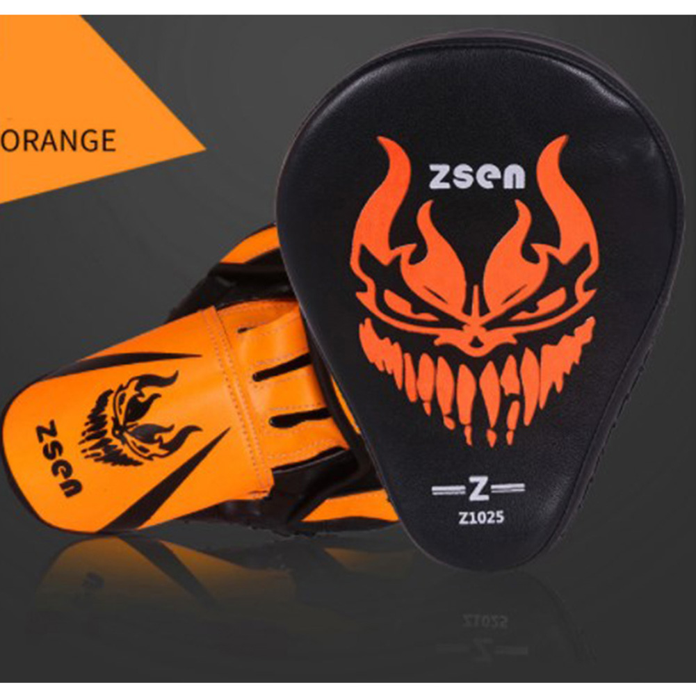 PU Leather Boxing Glove Arc Fist Target Punch Pad for MMA Boxer Muay Thai Training Fluorescent orange